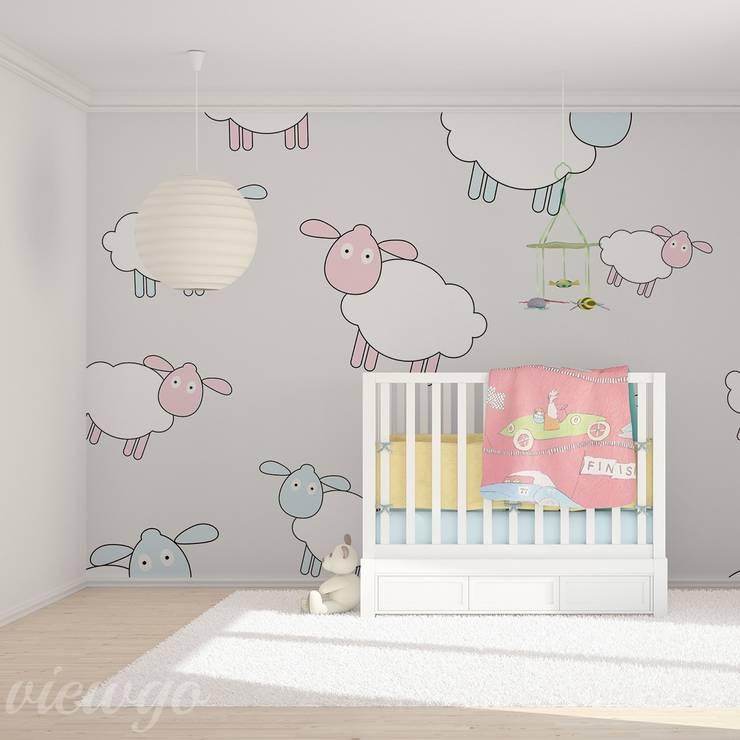 Mee, mee, mee, kopytka niosą mnie: styl , w kategorii Pokój dziecięcy zaprojektowany przez Viewgo