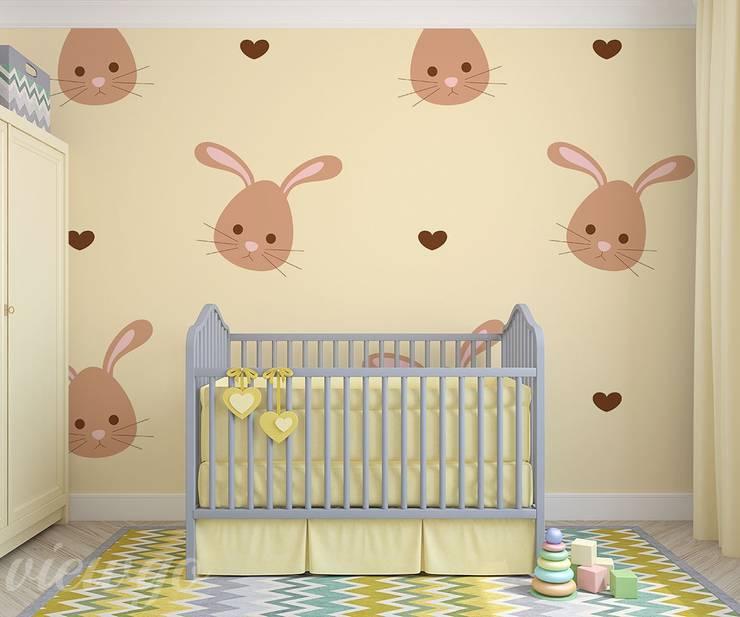 Z subtelną króliczą radością: styl , w kategorii Pokój dziecięcy zaprojektowany przez Viewgo
