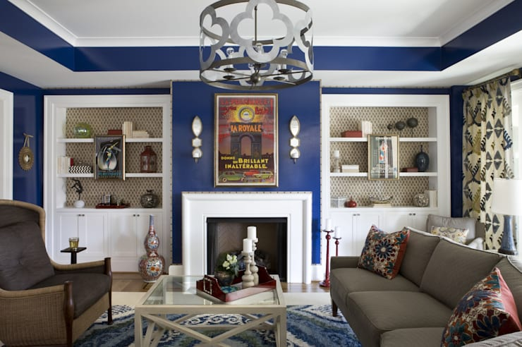 DC Design House: eclectic Living room by Lorna Gross Interior Design