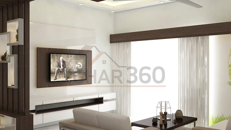 """Living Room TV Unit: {:asian=>""""asian"""", :classic=>""""classic"""", :colonial=>""""colonial"""", :country=>""""country"""", :eclectic=>""""eclectic"""", :industrial=>""""industrial"""", :mediterranean=>""""mediterranean"""", :minimalist=>""""minimalist"""", :modern=>""""modern"""", :rustic=>""""rustic"""", :scandinavian=>""""scandinavian"""", :tropical=>""""tropical""""}  by Ghar360,"""