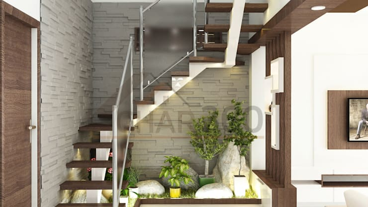 Staircase Design:   by Ghar360