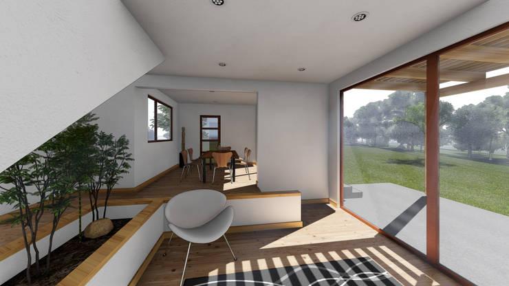 CASA CY: Comedores de estilo  por EjeSuR Arquitectura