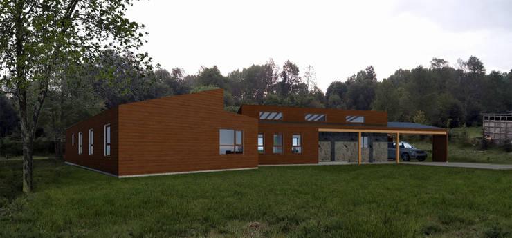 CASA AN: Casas de estilo  por EjeSuR Arquitectura