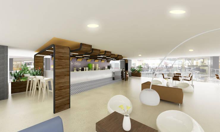 DeLolita Centro Comercial Mayorca: Centros comerciales de estilo  por @tresarquitectos,