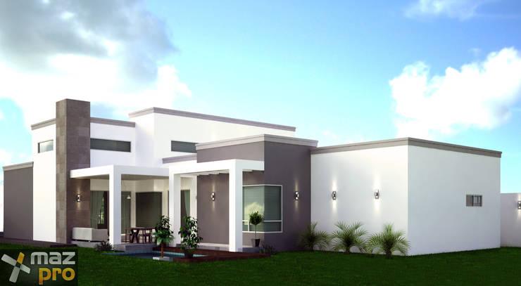 AREA SOCIAL EXTERIOR: Casas de estilo  por Mazpro Arquitectura