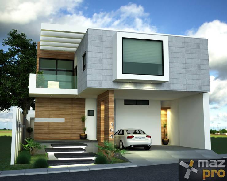 FACHADA PRINCIPAL: Casas de estilo  por Mazpro Arquitectura