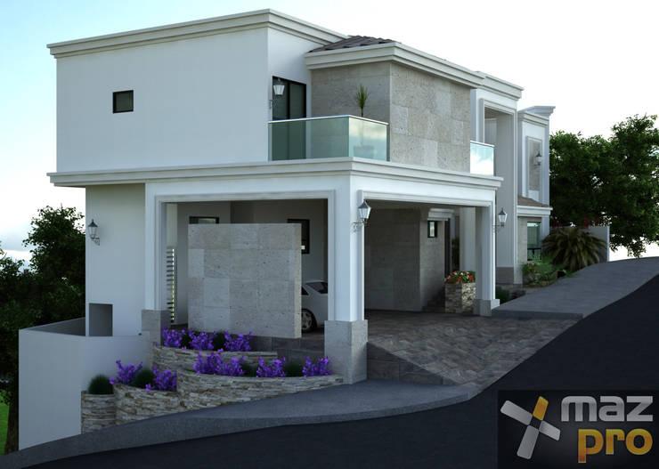 FACHADA LATERAL: Casas de estilo  por Mazpro Arquitectura
