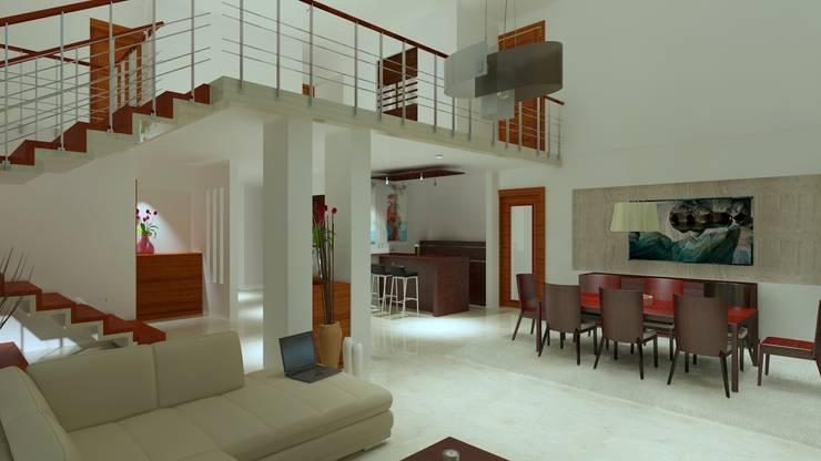 غرفة السفرة تنفيذ CouturierStudio