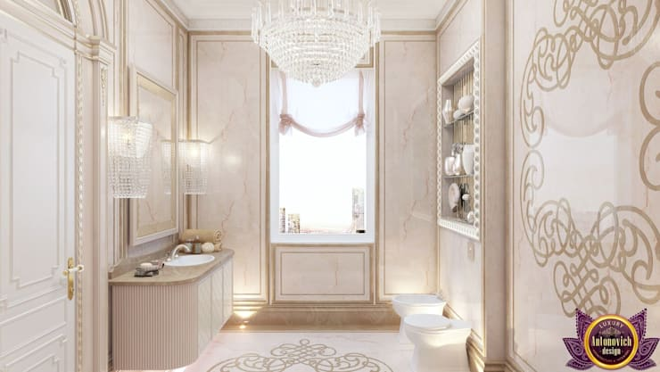 ​Luxurious bathroom design by Katrina Antonovich:  Bathroom by Luxury Antonovich Design,