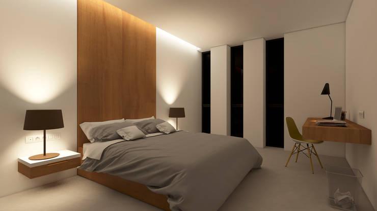 Dormitorios de estilo  por A2 arquitectura interior