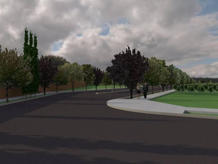 Avenida Principal: Jardines de estilo  por Gastón Blanco Arquitecto,