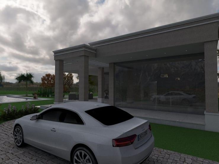 Acceso Privado: Casas de estilo  por Gastón Blanco Arquitecto,