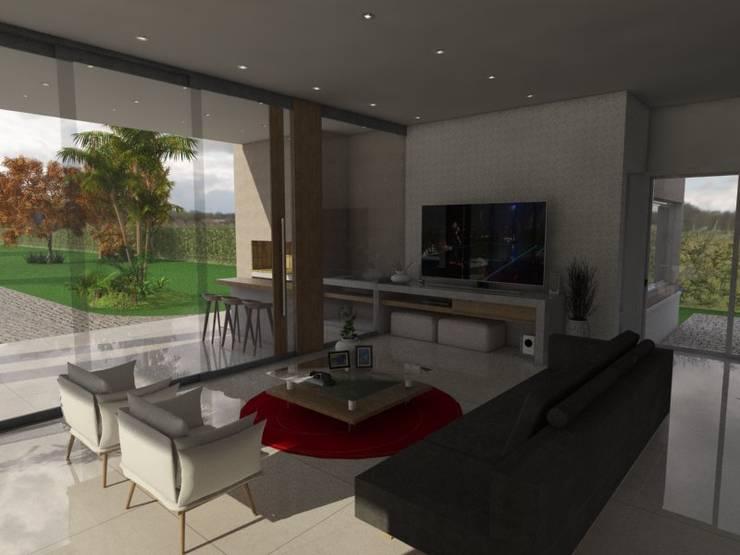 Estar: Livings de estilo  por Gastón Blanco Arquitecto,