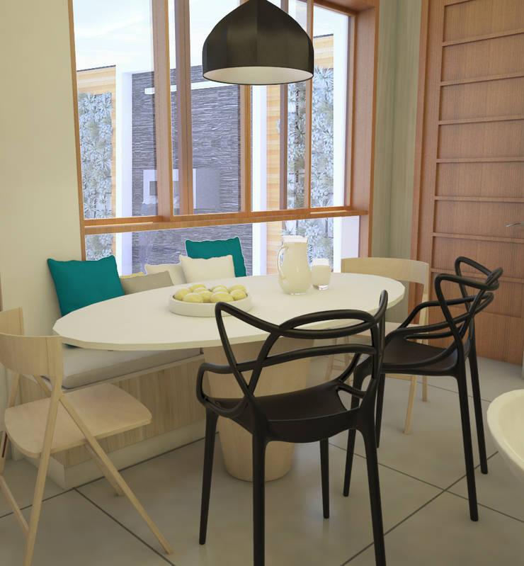 Mobiliario para comedor de diario: Cocinas de estilo  por Spacio5