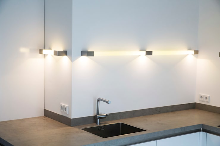 Keukenverlichting:   door Kunst & Licht & Glas, Minimalistisch Glas
