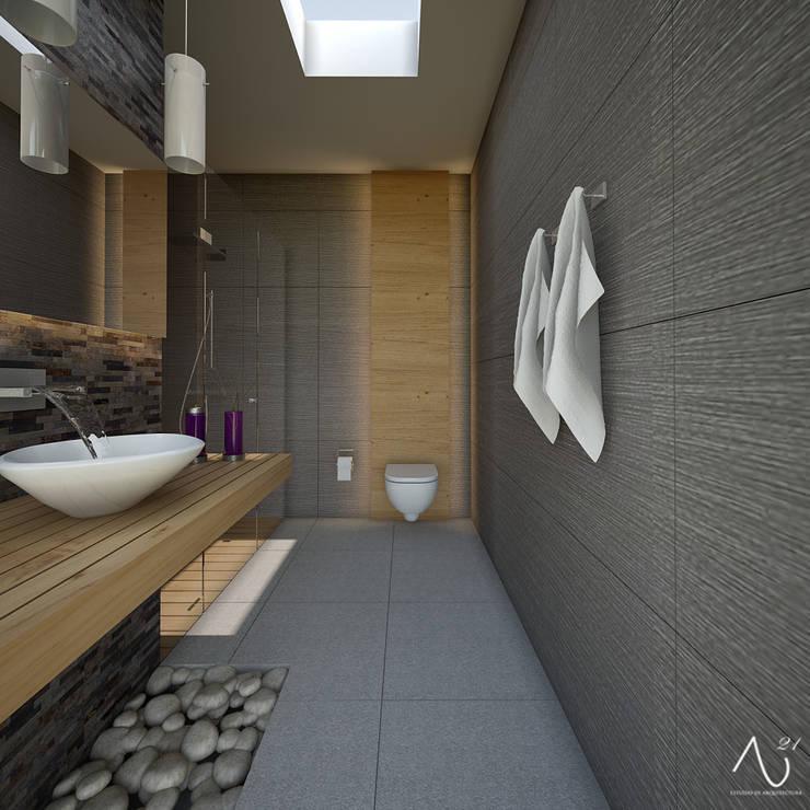 Baños de estilo  por 21arquitectos