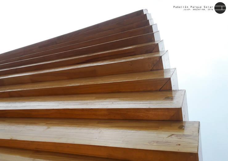 Pabellón Solar: Centros de exposiciones de estilo  por Horizontal Arquitectos,