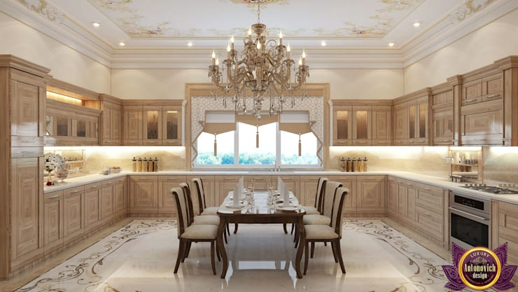 ​  Design Ideas for large kitchen of Katrina Antonovich:  Kitchen by Luxury Antonovich Design, Classic