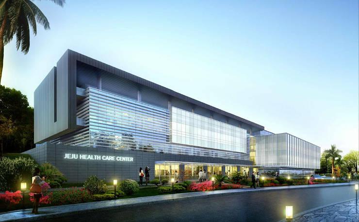 제주 녹지 국제병원 : RAW DESIGN STUDIO의  주택