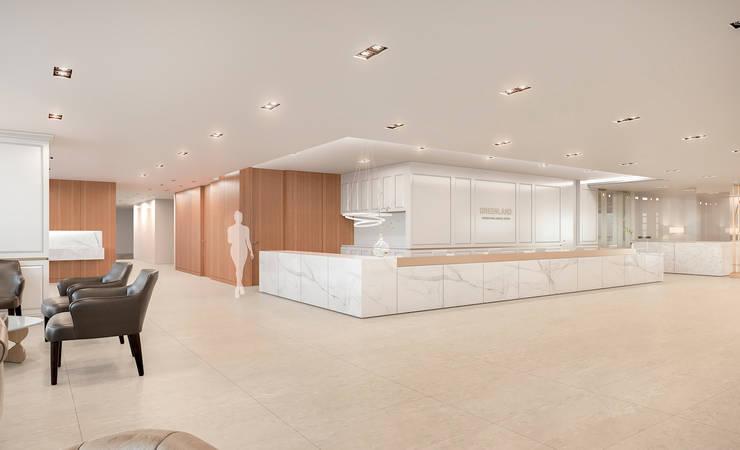 제주 녹지 국제병원 : RAW DESIGN STUDIO의  서재 & 사무실
