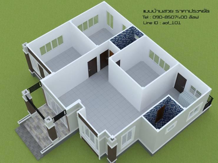 แบบบ้านพักอาศัย ชั้นเดียว 3 ห้องนอน 2 ห้องน้ำ (A1-104):   by aof_101