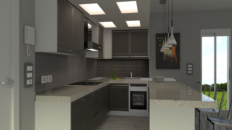 Cocinas de estilo  por virtual3dproject