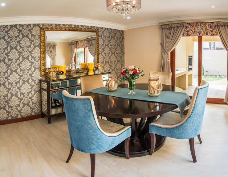 Dining Room. :  Dining room by Carne Interiors