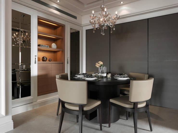 台北許宅:  餐廳 by 大觀室內設計工程有限公司