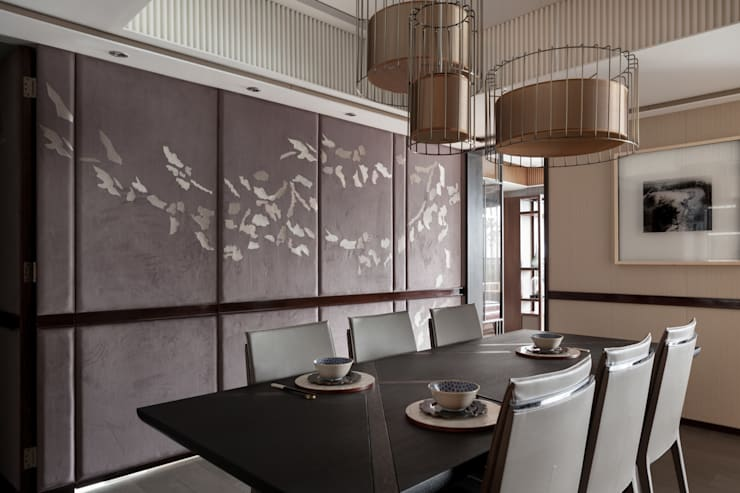 雙水灣:  餐廳 by 大觀室內設計工程有限公司