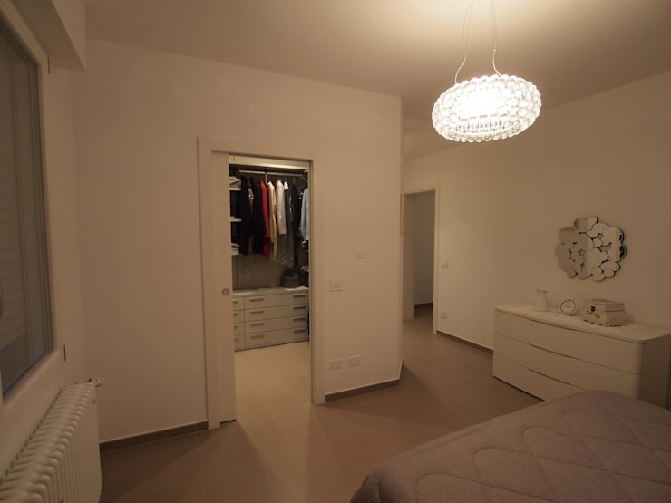 Projekty,  Sypialnia zaprojektowane przez duedì - studio di progettazione