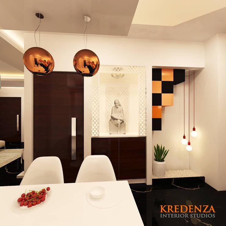 Prayer Area :  Dining room by Kredenza Interior Studios,Modern