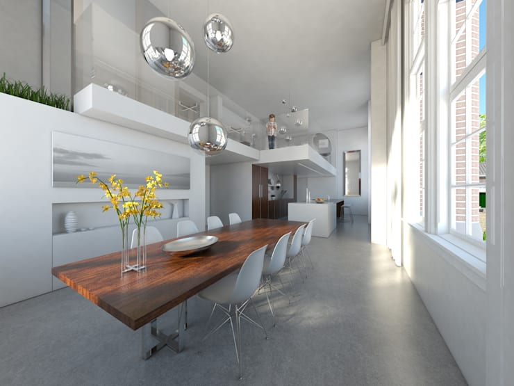 De Rijksadministratie:  Eetkamer door Mei architects and planners, Modern