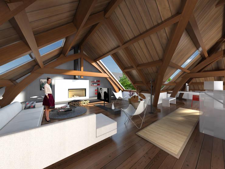 De Rijksadministratie:  Woonkamer door Mei architects and planners, Modern