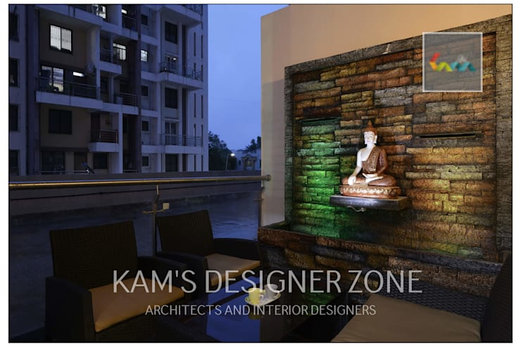 Apartment in Pharande L- Axis:  Terrace by KAM'S DESIGNER ZONE
