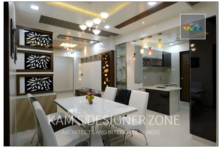 Apartment in Pharande L- Axis:  Kitchen by KAM'S DESIGNER ZONE