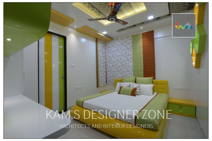Bedroom Interior design :  Nursery/kid's room by KAM'S DESIGNER ZONE,Modern