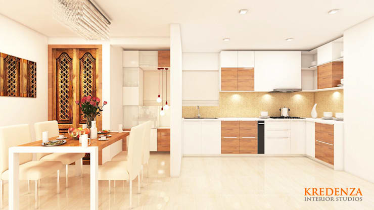 Kitchen & Dining: modern Kitchen by Kredenza Interior Studios