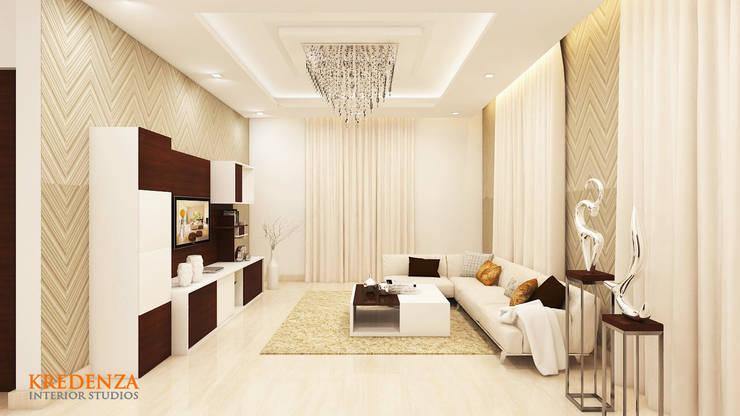 Living Room:  Living room by Kredenza Interior Studios