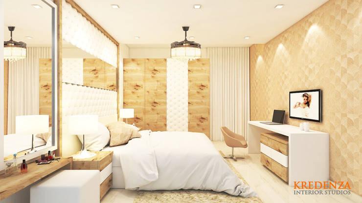Master Bedroom:  Bedroom by Kredenza Interior Studios