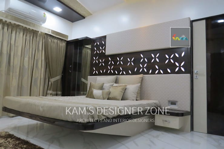 Bedroom Interior Design: modern Bedroom by KAM'S DESIGNER ZONE