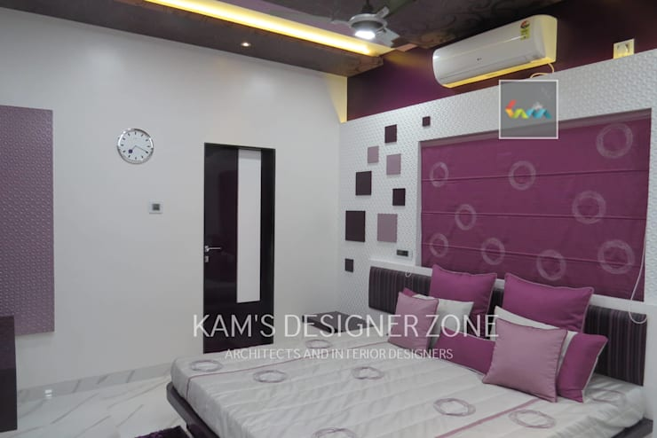 Bedroom Interior Design:  Windows by KAM'S DESIGNER ZONE