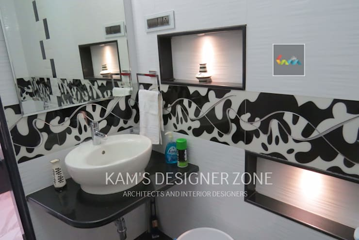 Bathroom Interior Design: modern Bathroom by KAM'S DESIGNER ZONE