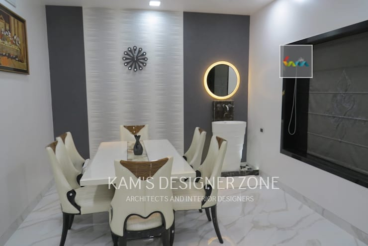 Dining Area:  Dining room by KAM'S DESIGNER ZONE