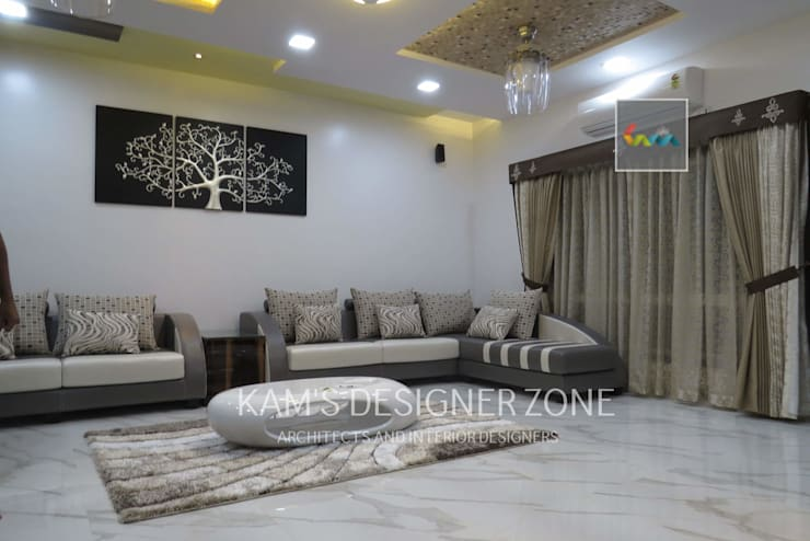 Living Room Design: modern Living room by KAM'S DESIGNER ZONE