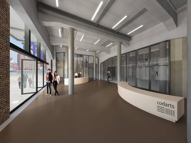Fenix I:  Gang en hal door Mei architects and planners, Modern