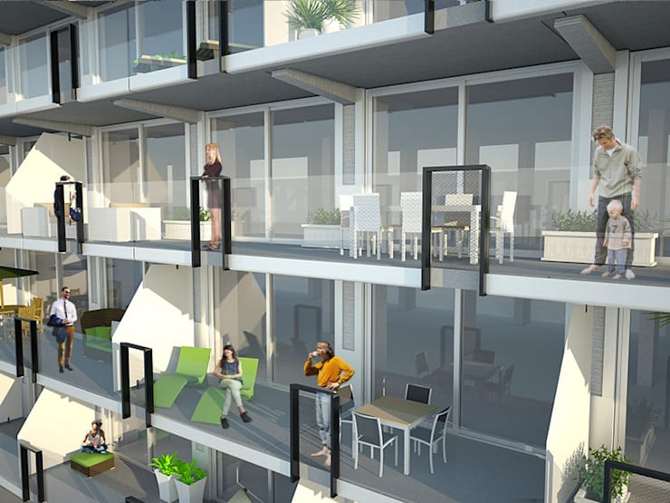 Fenix I:  Huizen door Mei architects and planners, Modern