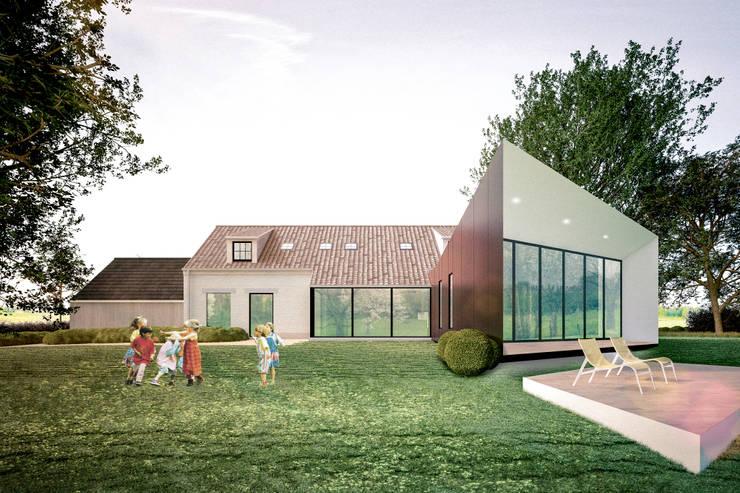 verbouwing en uitbreiding van bestaande eengezinswoning:  Huizen door A2S ARCHITECTEN, Landelijk