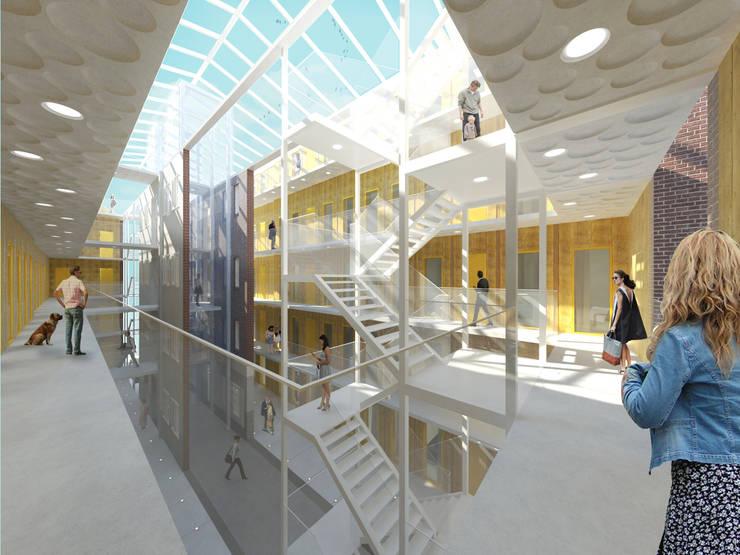 Het Kaaspakhuis:  Gang en hal door Mei architects and planners