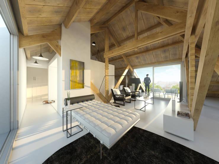 Het Kaaspakhuis:  Woonkamer door Mei architects and planners