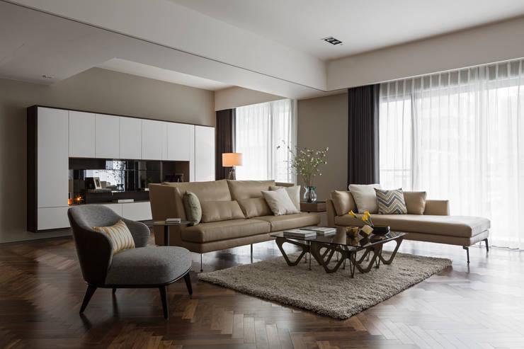 賀澤室內設計 HOZO_interior_design:  客廳 by 賀澤室內設計 HOZO_interior_design